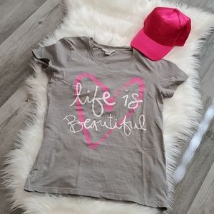 Forever 21 Life is Beautiful Tee Shirt